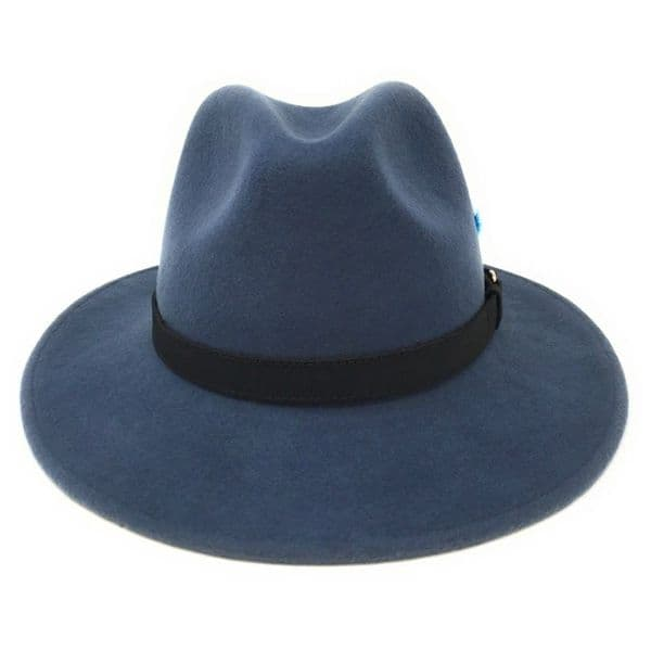 Airforce Blue Fedora Hat, Showerproof, Wool - Ranger